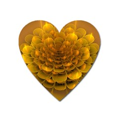 Yellow Flower Heart Magnet