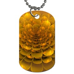 Yellow Flower Dog Tag (Two Sides)