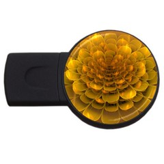 Yellow Flower USB Flash Drive Round (4 GB)