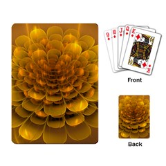 Yellow Flower Playing Card