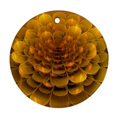 Yellow Flower Round Ornament (two Sides)