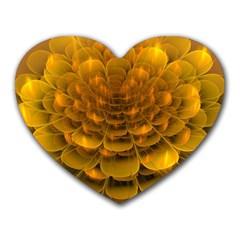 Yellow Flower Heart Mousepads