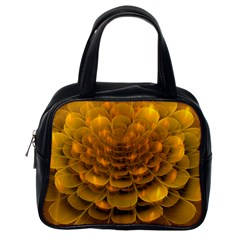 Yellow Flower Classic Handbags (One Side)