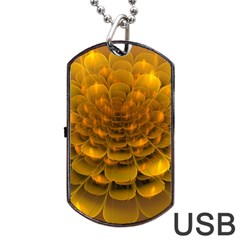 Yellow Flower Dog Tag USB Flash (Two Sides)