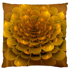 Yellow Flower Large Cushion Case (Two Sides)