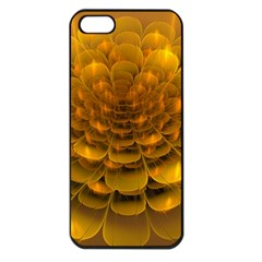 Yellow Flower Apple iPhone 5 Seamless Case (Black)