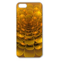 Yellow Flower Apple Seamless iPhone 5 Case (Clear)