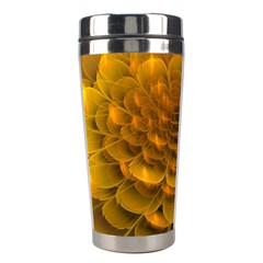 Yellow Flower Stainless Steel Travel Tumblers