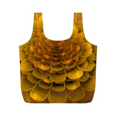 Yellow Flower Full Print Recycle Bags (m)