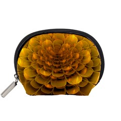 Yellow Flower Accessory Pouches (Small)