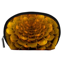 Yellow Flower Accessory Pouches (Large)