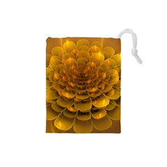 Yellow Flower Drawstring Pouches (Small)