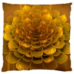 Yellow Flower Large Flano Cushion Case (Two Sides) Back