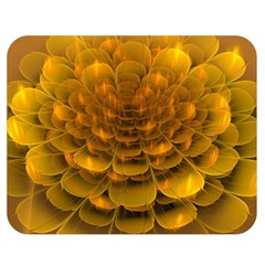 Yellow Flower Double Sided Flano Blanket (Medium)