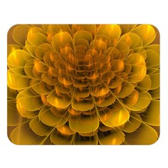 Yellow Flower Double Sided Flano Blanket (Large)