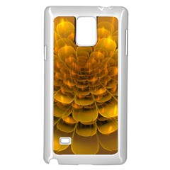 Yellow Flower Samsung Galaxy Note 4 Case (White)