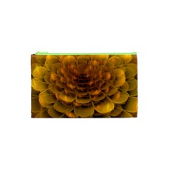 Yellow Flower Cosmetic Bag (XS)