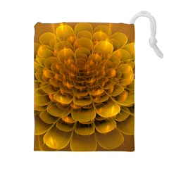 Yellow Flower Drawstring Pouches (Extra Large)