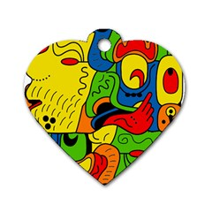 Mexico Dog Tag Heart (Two Sides)