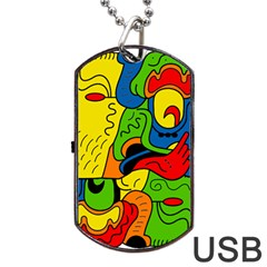 Mexico Dog Tag USB Flash (Two Sides)