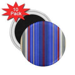 Colorful Stripes 2 25  Magnets (10 Pack)