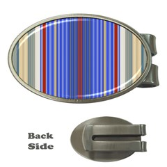 Colorful Stripes Money Clips (Oval)