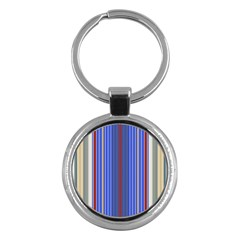 Colorful Stripes Key Chains (Round)