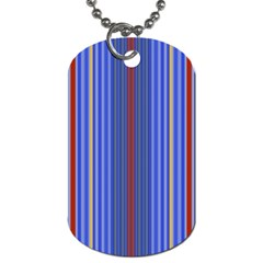 Colorful Stripes Dog Tag (One Side)