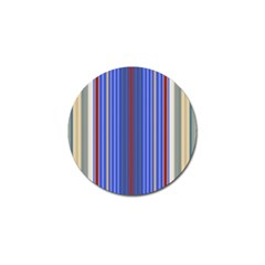 Colorful Stripes Golf Ball Marker