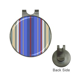 Colorful Stripes Hat Clips With Golf Markers
