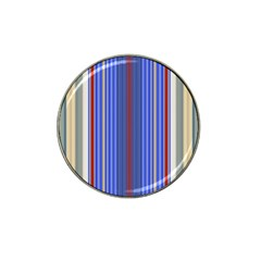 Colorful Stripes Hat Clip Ball Marker (10 pack)