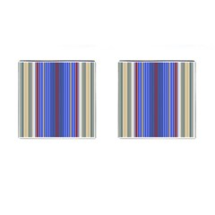 Colorful Stripes Cufflinks (Square)