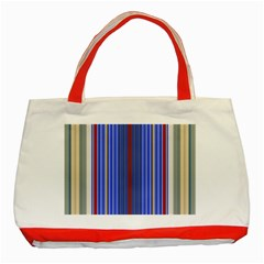 Colorful Stripes Classic Tote Bag (red)