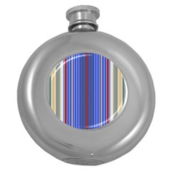 Colorful Stripes Round Hip Flask (5 Oz)