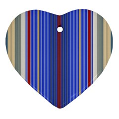 Colorful Stripes Heart Ornament (Two Sides)