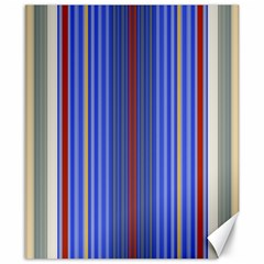 Colorful Stripes Canvas 8  X 10