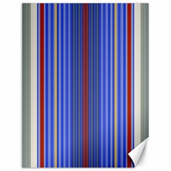 Colorful Stripes Canvas 12  X 16