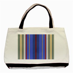 Colorful Stripes Basic Tote Bag (two Sides)