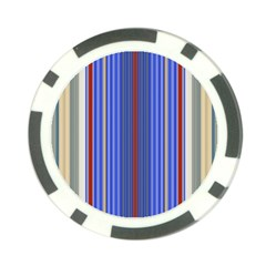 Colorful Stripes Poker Chip Card Guard
