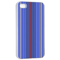 Colorful Stripes Apple Iphone 4/4s Seamless Case (white)