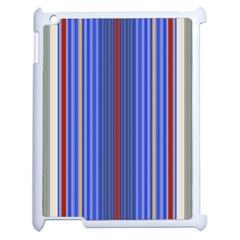 Colorful Stripes Apple iPad 2 Case (White)