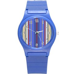 Colorful Stripes Round Plastic Sport Watch (S)