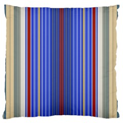 Colorful Stripes Large Cushion Case (two Sides)