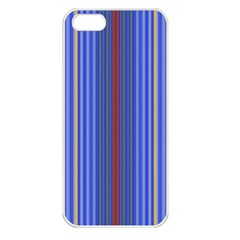 Colorful Stripes Apple iPhone 5 Seamless Case (White)