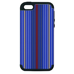 Colorful Stripes Apple Iphone 5 Hardshell Case (pc+silicone)