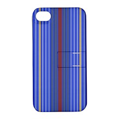 Colorful Stripes Apple iPhone 4/4S Hardshell Case with Stand
