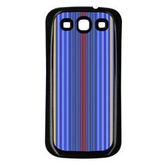 Colorful Stripes Samsung Galaxy S3 Back Case (Black)