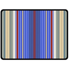 Colorful Stripes Double Sided Fleece Blanket (Large)