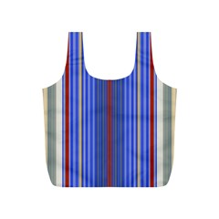 Colorful Stripes Full Print Recycle Bags (S)