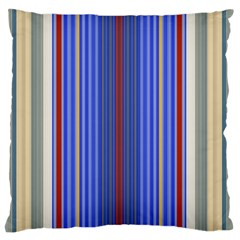 Colorful Stripes Large Flano Cushion Case (two Sides)